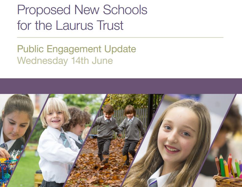 Come to see our new school design proposals on 14th June