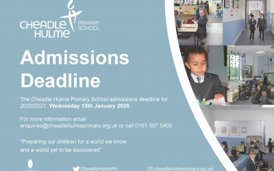 Admissions Deadline for 2020/ 2021 Intake