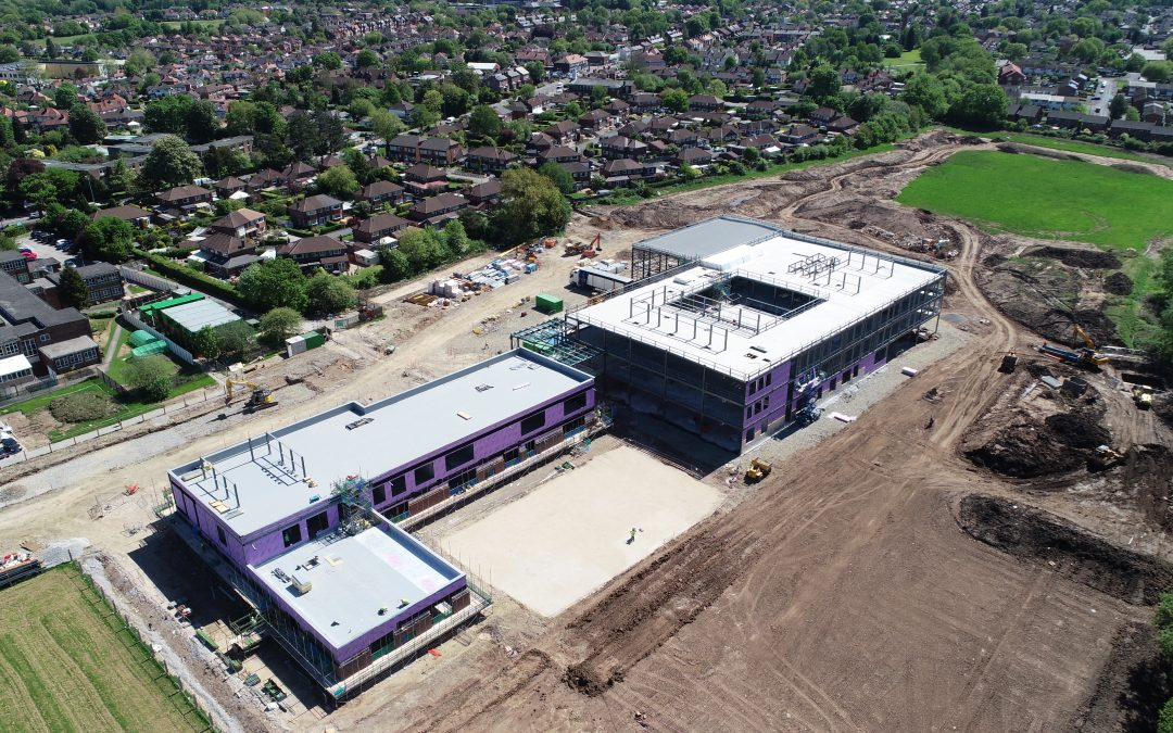 Latest aerial shots of Cheadle Hulme Primary School